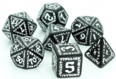 Black & White Runic Dice Set